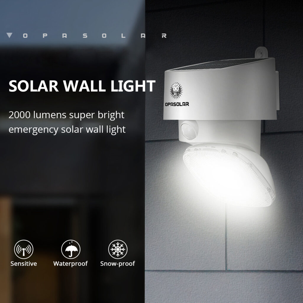 Opasolar Solar Motion Sensor Wall Light